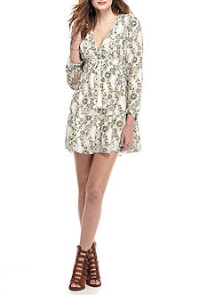 Free People Stealing Fire Printed Dress