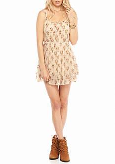 Free People Heart Races Mini Dress