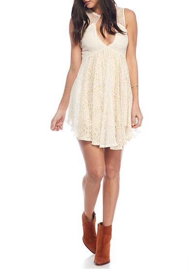 Free People Don't You Dare Lurex Mini Dress