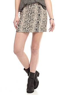 Free People Snake Jacquard Skirt