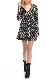 Free People Chevron Sweater Dress
