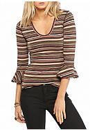 Free People Stripe Surprise Party Tee