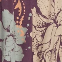 Knit Tops For Juniors: Purple Free People Printed Glenside Top