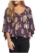 Free People Printed Glenside Top