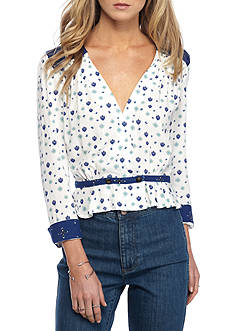 Free People Where We Roam Printed Top