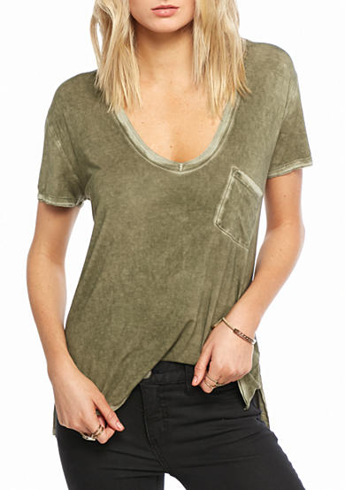 Free People Rising Sun V-Neck Tee