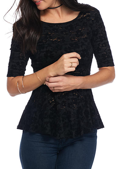 Free People Chenille Lace Second Chance Top