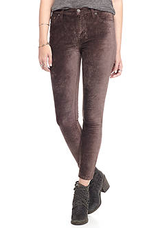 Free People Funkytown Cyndi Velvet Skinny Pants