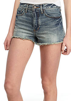 Free People Stilt Cut Off Denim Shorts