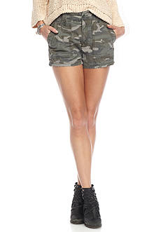 Free People Hi Wasted Military Short