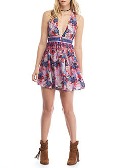 Free People Daydreamin' Printed Mini Dress