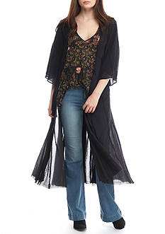 Free People Curved Gauze Duster