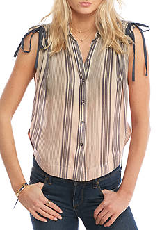 Free People Baby Blues Stripe Top