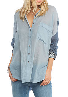 Free People Rainbow Rays Button-down Top