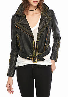 Free People Bang Bang Vegan Jacket