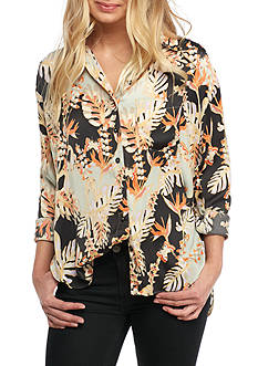 Free People Under the Palms Button-Down Top