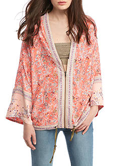 Free People Wildflower Cinched Kimono Jacket
