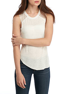 Free People Peony Lace Detail Tank