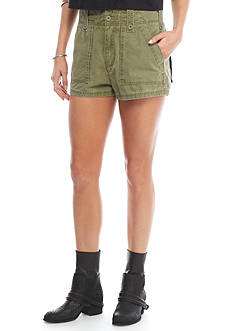 Free People Hi Waisted Military Short