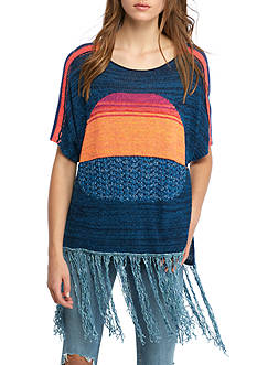 Free People Sunset Fringe Sweater