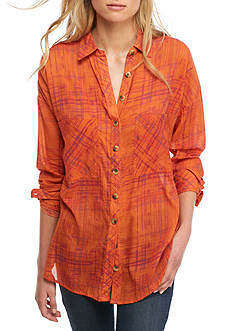 Free People Shore Vibes Button Down