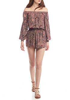 Free People Pretty & Free Off-the-Shoulder Romper