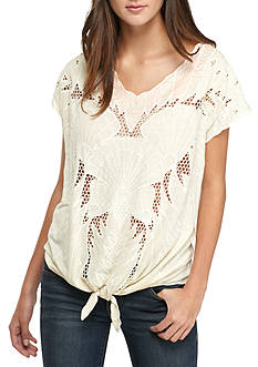 Free People Castaway Tie Front Tunic