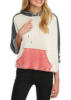 Free People Tri Color Hoodie