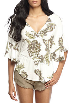 Free People Maui Wowie Printed Top
