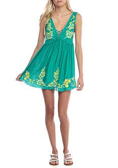 Free People Embroidered Aida Slip Dress