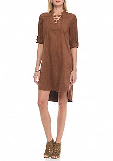 Fever Faux Suede Dress