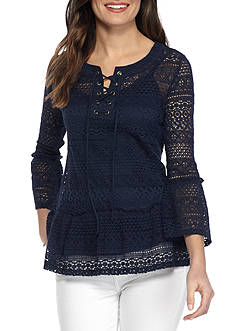 Fever Lace Peasant Top