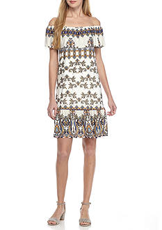 Fever Printed Matte Dress