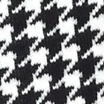 Fever Women Sale: Black/White Houndstooth Fever Cowl Neck Poncho