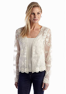 Fever Open Lace Crochet Cardigan