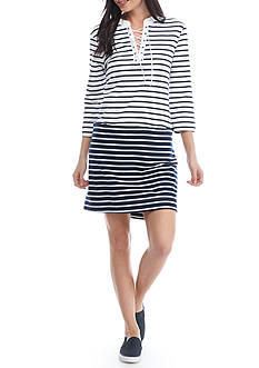 Fever Stripe French Terry Dress