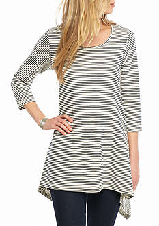 Fever Striped French Terry Tunic