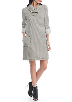 Fever Stripe Terry Dress