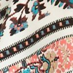 Free 2 Luv Women's Plus Sale: Aqua/Sugar Coral Free 2 Luv Plus Size Scarf Print Woven Top