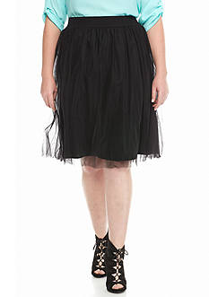 Heart N Soul Plus Size Tulle Skirt