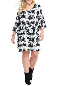 Free 2 Luv Plus Size Tie Dye Shift Dress