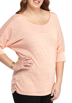 Free 2 Luv Plus Size Solid Knit Top