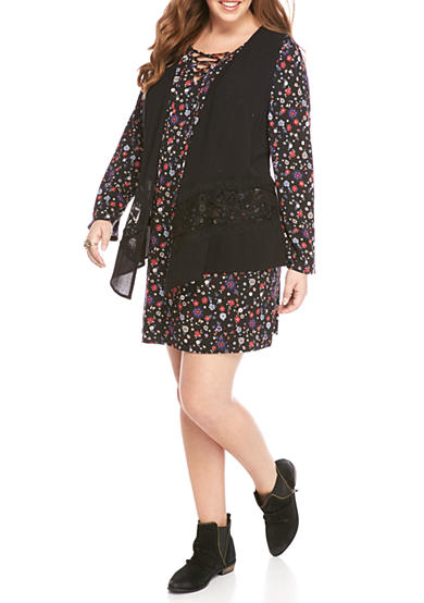 Belle du Jour Plus Size Floral Printed Dress