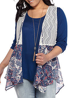 Belle du Jour Plus Size 3Fer Printed Vest Top