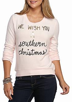 Belle du Jour Wish Southern Christmas Foil Sweatshirt