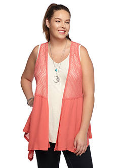Belle du Jour Plus Size 3Fer Top with Necklace