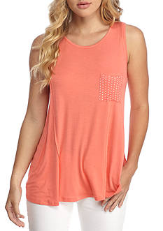 Belle du Jour Knit Star Pocket Tank Top