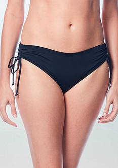 Beach House Solid Adjustable Side Tie Swim Bottom