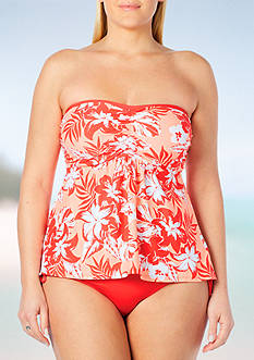 Beach House Plus Size Going Coastal Strappy Back A-Line Bandini Swim Top