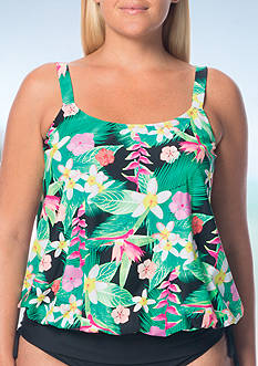 Beach House Plus Size Maya Bat Blouson Tankini